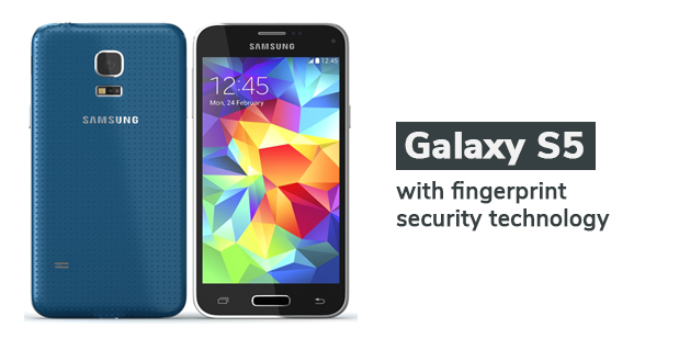 Galaxy S5 with fingerprint security technology