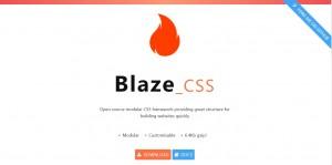Small CSS framework Blaze CSS