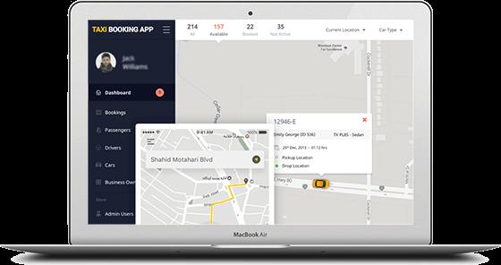 admin pannel taxi app
