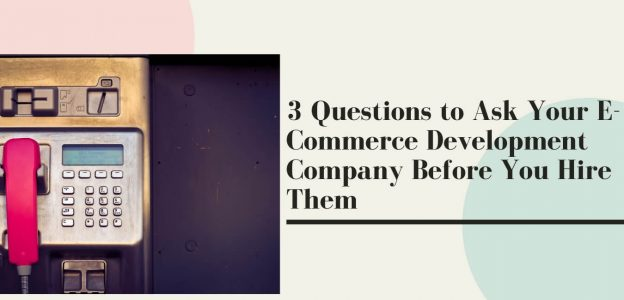 3 Questions to Ask Your E-Commerce Development Company Before You Hire Them