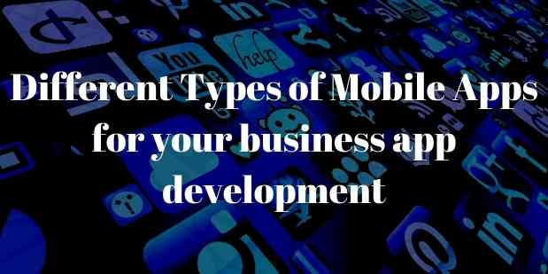 Different Types of Mobile Apps for your business app development