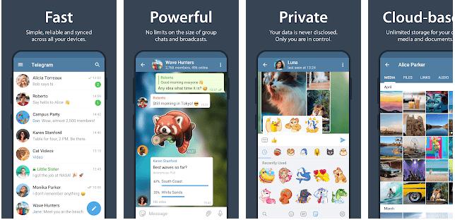 a secret messaging app