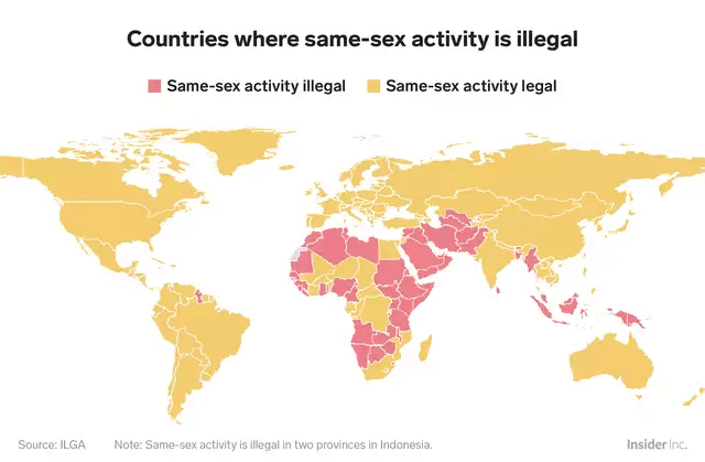countries where same sex activity is illegal
