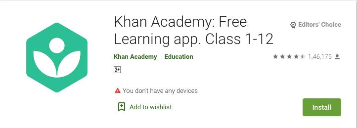 Khan Academy – Education Tutor App