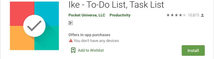 Ike - An Advanced To-Do list app