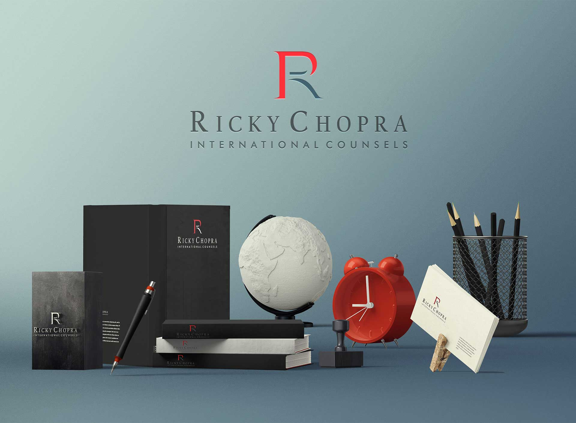 Ricky Chopra Logo with Product Design