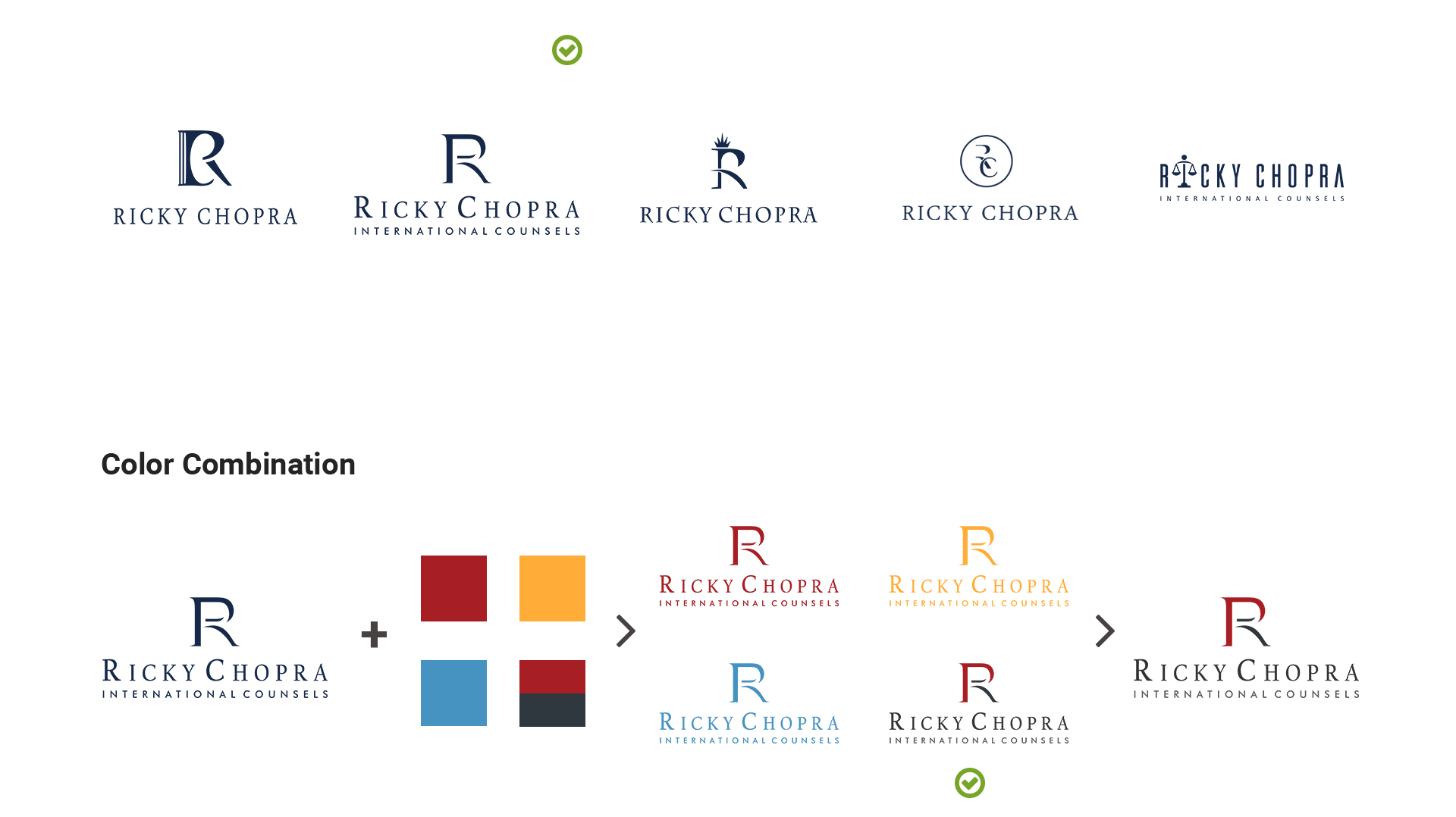 Ricky Chopra Logo Design Concepts