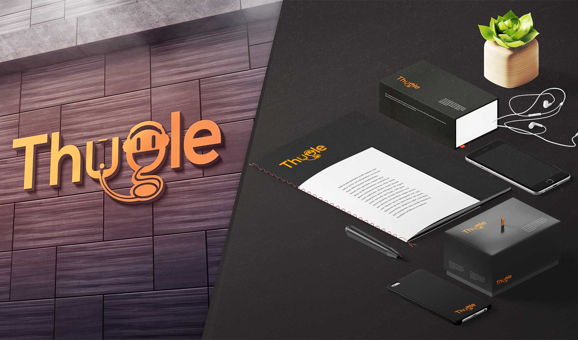 Thugle Logo with Product Design