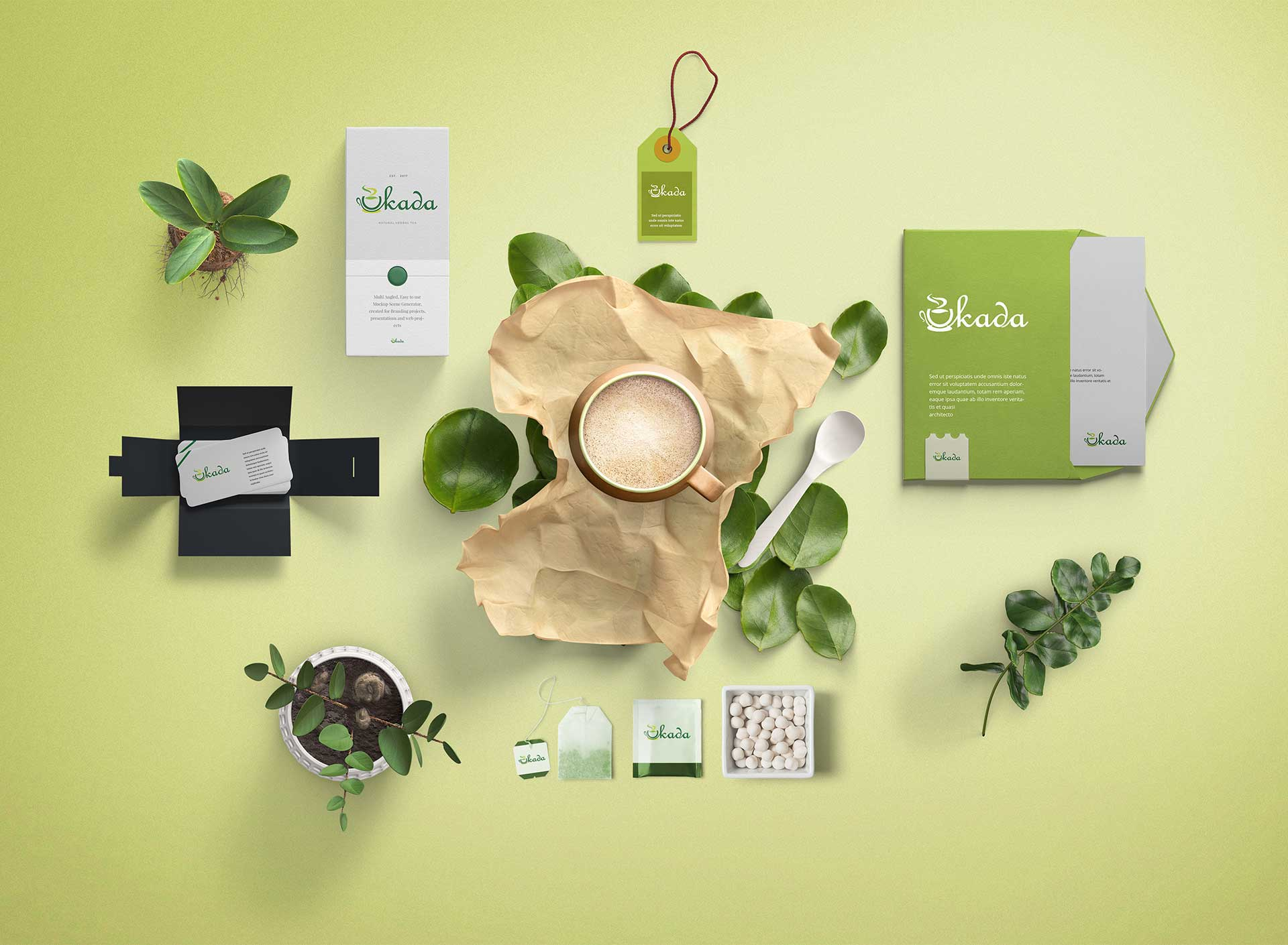 Uikada Logo with Product Design