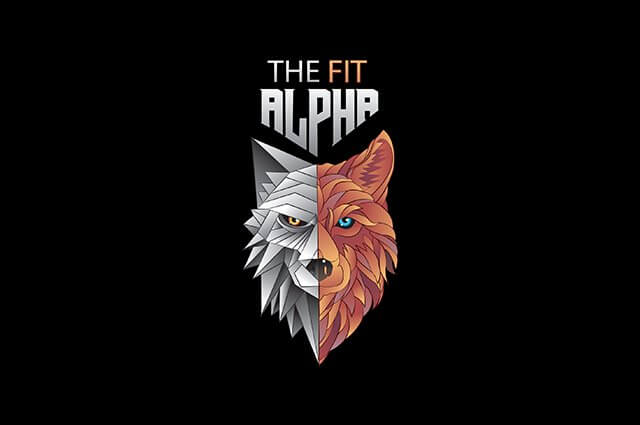 the fit alpha Logo Design