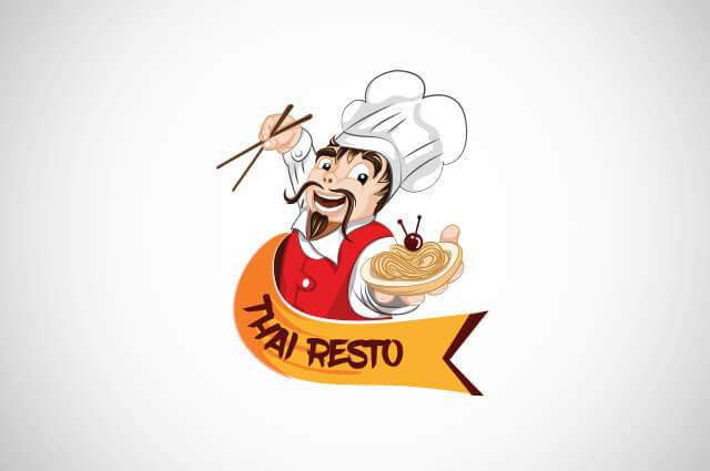 Thai resto Logo Design