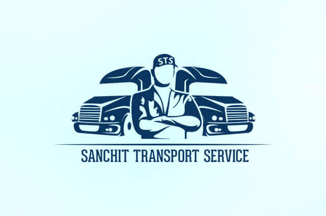 Sanchit Transport Service Logo Design