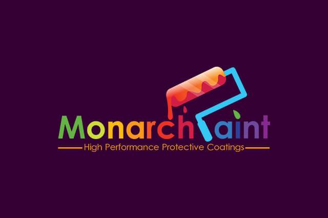 Monarch paint Logo Design