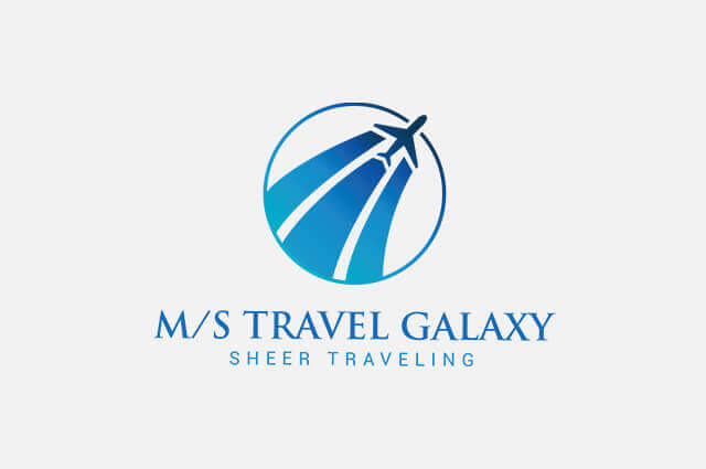 m/s Travel Galaxy Logo Design