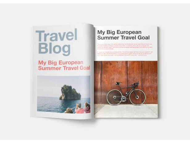 Travel Blog Book Cover Design