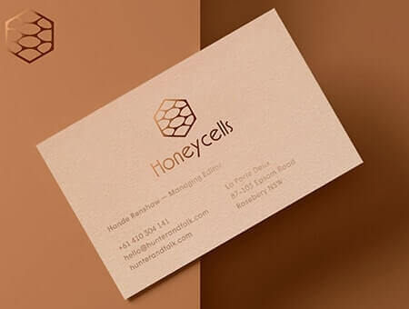 Unique business card design services vervelogic business card honeycell design reheart Image collections