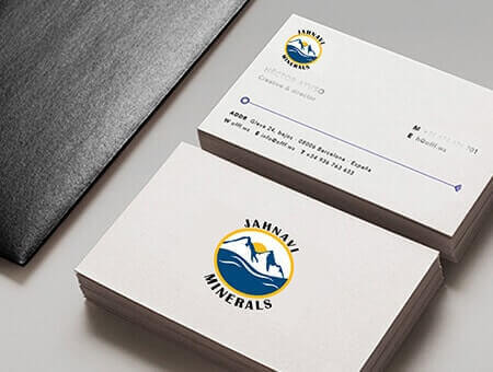 Unique business card design services vervelogic business card jahnavi minrals design reheart Image collections